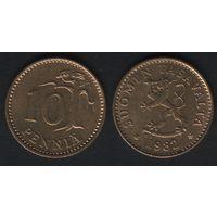 Финляндия km46 10 пенни 1982 год (K) (f31)*