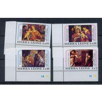 1987 - Сьера Леоне Искусство Живопись Рождество ** 1066-9