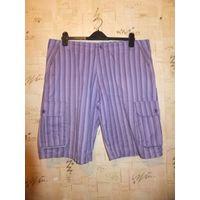Классные стильные шорты на 52 размер из качественного 100% хлопка. Состояние идеальное. Длина58см, ПОталии50см, ПОбедер64см.
