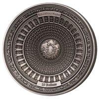 "Самоа 10 долларов 2017г. 4-x уровневая монета: ""США Капитолий"".  Монета в капсуле, подарочном футляре; сертификат; коробка. СЕРЕБРО 100гр."