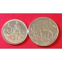 Эфиопия, 5 и 10 центов, лев