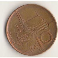 10 крон 2009 г. Чешская Республика.