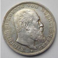 Германская империя 3 марки 1910 Вюртемберг