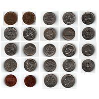 Набор монет (США) 12 штук одним лотом.