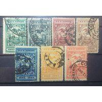 Эквадор гербовые марки 1887-1888