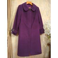 Фиолетовое женское пальто осенне-весеннее