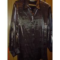 Блузка 48-50 р , цвет-металик и пиджак льняной 48 р