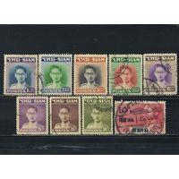 Сиам Таиланд 1947 Рама IX Бхумипол Адуладеж Стандарт # Mi 264.266-272 + 219