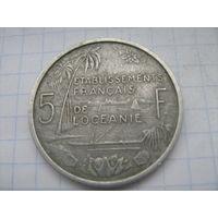 Океания 5 франков 1952г.*km4