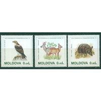1995 Молдова Молдавия  158-160 охрана природы фауна **
