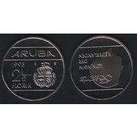 Аруба _km6 2 1/2 флорина 1993 год (ba) (b06)
