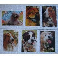 Календарик Собаки 1991 (цена за один,наличие в описании)