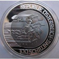 Австрия, 100 шиллингов, 2001, серебро, пруф
