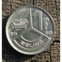 1 франк 1989 Бельгия