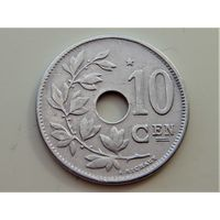 Бельгия 10 сантимов 1930 Е Звезда