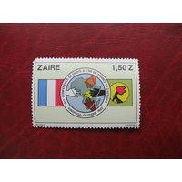 Марка 9-я конференция Французской Африки Заир (Конго) 1982 год