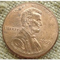 1 цент 2009 D США