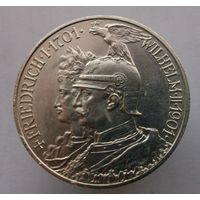 2 марки 1901 г. 200 лет королевства Пруссия.Серебро.Состояние!!!