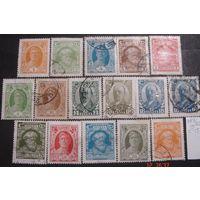 Полная серия гашеных стандартных марок СССР 1927 года 18 коп. с оттенком, в хорошем состоянии