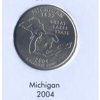 25 центов США 2004 г. штат Мичиган D