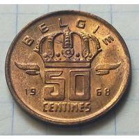 Бельгия 50 сантимов, 1968   BELGIE           ( 6-5-1 )