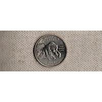США 25 центов 2008/Аляска/медведь(Ab)