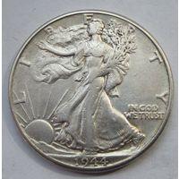 США, 1\2 доллара, 1944, серебро