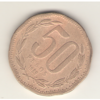50 песо 1989 г.
