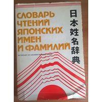 Словарь чтений японских имен и фамилий.