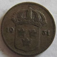 Швеция 10 эре 1931 серебро
