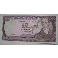 Колумбия 50 песо 1986 г. (d)