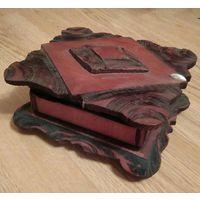 Шкатулка деревянная старинная