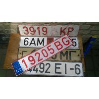 Небольшая подборка номерных знаков  авто