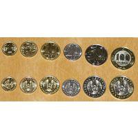 Казахстан 2019 компл. 6 монет латиница ходячка UNC
