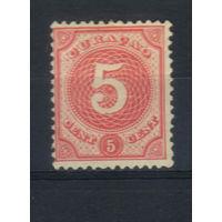 NL Колонии Кюрасао (Нидерландские Антиллы) 1889 Номинал Стандарт #23**
