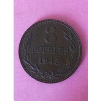 Гернси 8 дублей 1945г 192.000