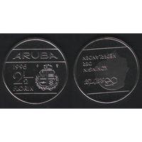 Аруба _km6 2 1/2 флорина 1995 год (ba) (b06)