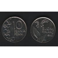 Финляндия km65 10 пенни 1996 год (M) (f32)