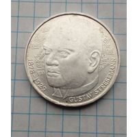 ФРГ 5 марок 1978г Густав Штреземан Серебро  0,625