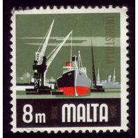 1 марка 1973 год Мальта Флот 460