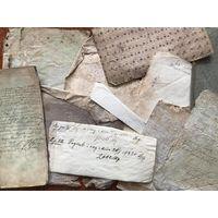 Фрагменты книг, бумага 18 - нач. 20 века - для реставраторов