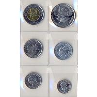 Панама комплект монет (6 шт.) 2008-2011 гг. скидки.