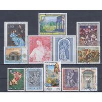 [834] Италия. Культура.Искусство. 12 гашеных марок.