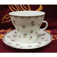 Чашка с блюдцем Розы - Розочки, ЛФЗ. СССР