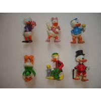 Киндер киндеры из серии Дональд Дак и его семья Donalds flotte Familie 6 шт Ферреро 1987