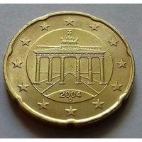 20 евроцентов, Германия 2004 D