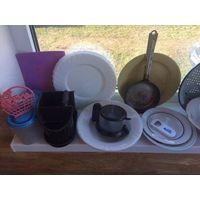 Посуда для дачи, продаю все одним лотом. Можно обсудить доставку в пределах Минска по предоплате лота. Много всего интересного.