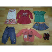 Одежда для девочки на рост 86-92см пакетом