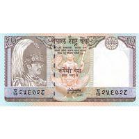 Непал 10 рупий образца 1985-2001 года UNC p31b(2)