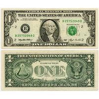 США. 1 доллар (образца 1993 года, B, Нью-Йорк, P490)